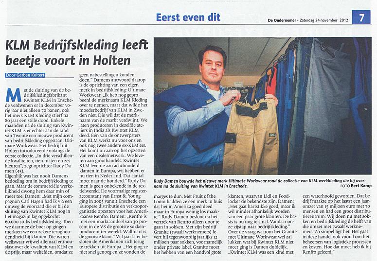KLM bedrijfskleding in Holten